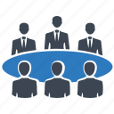 business meeting, community, conference, group, team icon