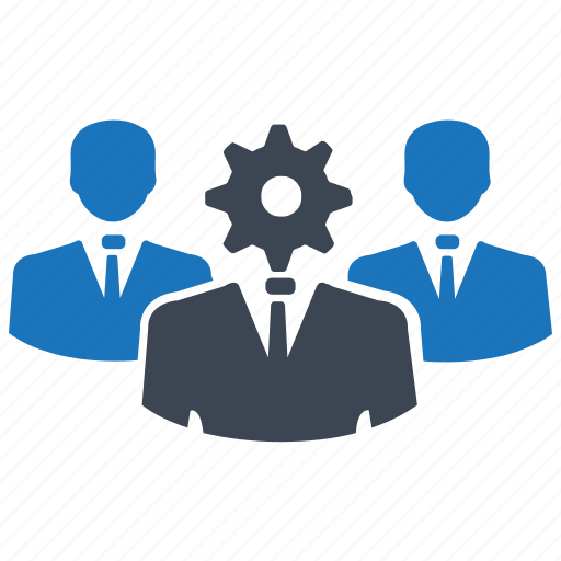 gear, group, leader, setting, teamwork, users icon