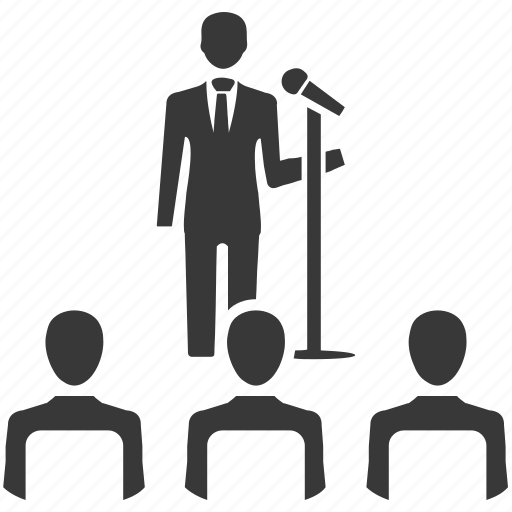 audience, conference, lecture, meeting, speech, teach icon