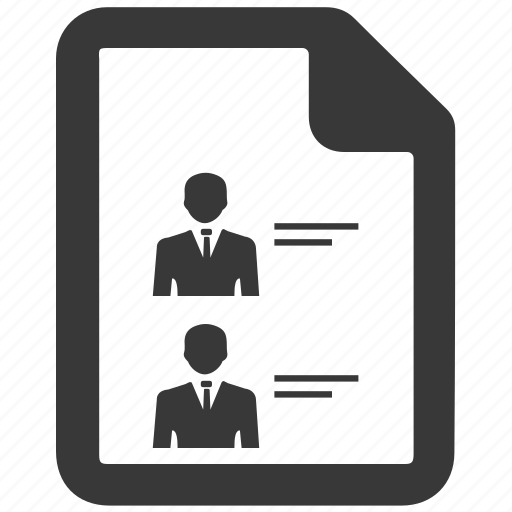 arrangement, employee, employee information, human list, member list icon
