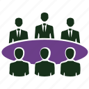 business conference, business meeting, community, conference, group, team icon