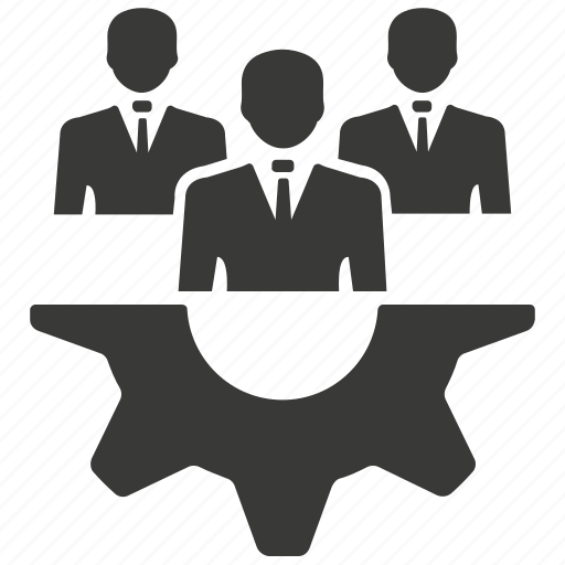 business strategy, control, teamwork icon