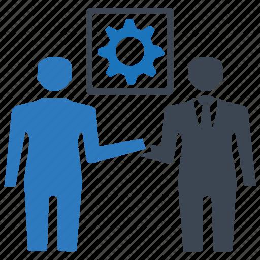 agreement, business deal, handshake, partnership, setting icon