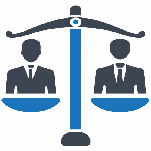 balance, business decision, law, measuring, scales, weight icon