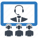 business meeting, teleconference, video call, video conference icon