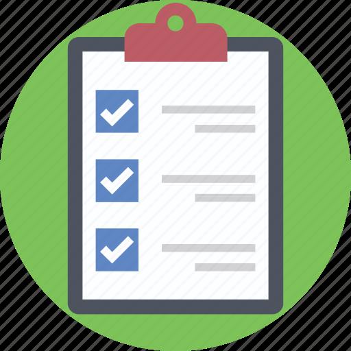 check mark, checklist, clipboard, list, to do icon