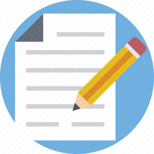 document, paper, paper and pencil, pencil, writing icon