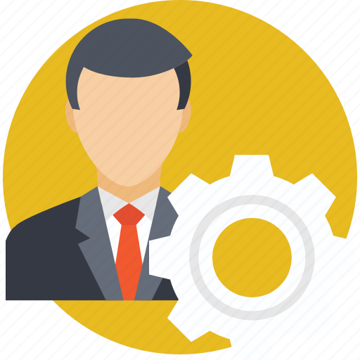 cog, employee, human resource management, management, manager icon