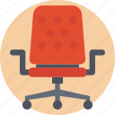 chair, revolving chair, spinny chair, swivel, swivel chair