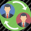 employee replacement, human resource, job replacement, replace, replacement icon