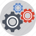 cogs, gears, management, mechanism, optimization icon