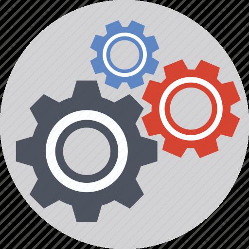 cogs, gears, management, mechanism, optimization icon
