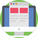 monitor, web page, website, website design, website template icon