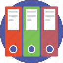documents, file folders, folders, record keeping, storage icon