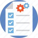 checklist, document, management, project document, project management icon