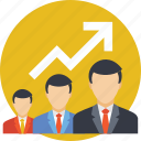 business growth, career development, career growth, career path, growth chart icon