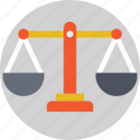 balance, court, justice, law, weighing scale icon