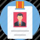 employee card, id, id card, lanyard, student card icon