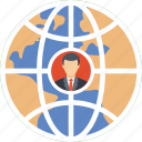 customer global, employee map, international customer, remote employee, remote resource icon