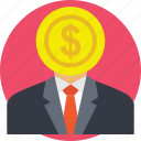businessman, finance, investment, investor, money icon