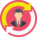 employee, employee replacement, employee retention, employee turnover, replacement icon