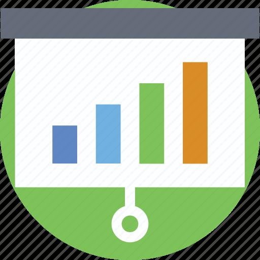 analytics, bar graph, growth, presentation, stats icon