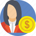 business, finance, investment, investor, money icon