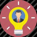 businessman, creative, idea, innovation, light bulb