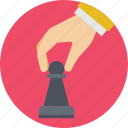business strategy, chess, pawn, plan, strategy icon