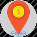 bank, finance, financial, gps, navigation icon