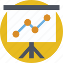analytics, graph, presentation, statistics, stats icon
