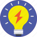 creativity, idea, innovation, light bulb, spark icon