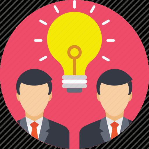 brainstorming, business team, innovation, teamwork, thinking icon