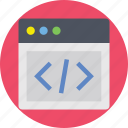 coding, development, programming, tab, web development icon