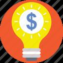 business idea, idea, innovation, light bulb, money