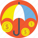 business insurance, business protection, insurance, money protection, umbrella icon