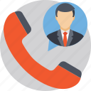 business call, businessman, calling, telecommunication, telephone icon