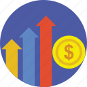 business chart, business growth, financial growth, growth, growth chart icon