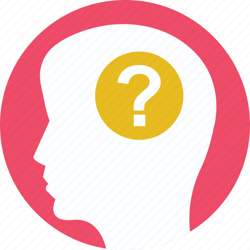 brainstorming, businessman, confusion, question, question mark icon