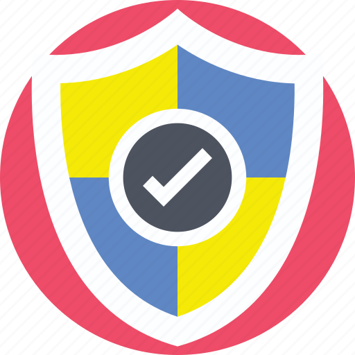 crest, protected, safe, secure, shield icon
