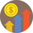 business growth, finance, financial growth, growth, progress icon
