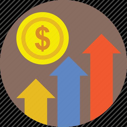 business growth, finance, financial growth, growth, progress icon