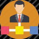 chart, hierarchy, hierarchy chart, hierarchy tree, team lead icon