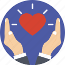 caring, heart, love, sharing love icon