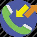 calls, calls log, incoming, outgoing, phone log icon