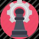 cog, gear, pawn, planning, strategy