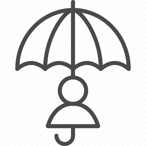 human, insurance, life, people, safe, safety, umbrella icon