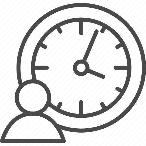 clock, hr, human, human resources, management, people, time icon