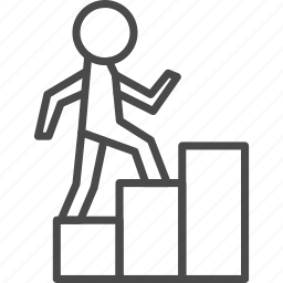 career, growth, hr, human, job, stairs, up icon