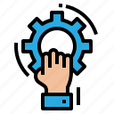 action, business, human, learning, resources icon